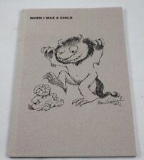 When I Was A Child Cover Art By Maurice Sendak 1992 Barbara Rosen UCONN Book