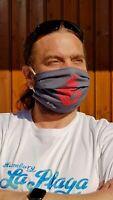 HLP Wende-Behelfsmaske für Nase und Mund - Anker anthracite - organic fairwear!