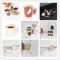 Enamel DIY Broach Pins Cartoon Funny Badge Shirt Collar Brooch Pins Metal Set**`