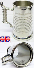 The King's Shilling One Pint Hand Made English Pewter Tankard - Free Engraving