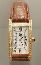 GM  Armbanduhr Unisex 14 K/585er Gelbgold mit Brillanten 0,34 ct. -sehr hübsch-