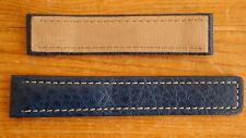 NEW Vintage OEM 18 mm TagHeuer S/EL-medie blu DEPLOYANTE cinturino in pelle/Band nn.