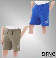 Boys DFND London Printed Woven Logo Brushback Fleece Shorts Sizes Age 6-16 Yrs