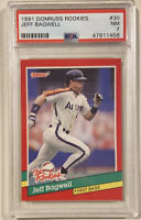 1991 Donruss the Rookies JEFF BAGWELL Rookie Card #30 PSA 7 NEAR MINT Astros HOF