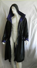 VINTAGE MARITHE FRANCOIS GIRBAUD MENS LEATHER COAT CAPE PARIS EXTREMELY RARE