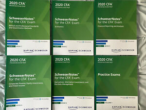 NEVER USED - 2020 CFA Level 1 Kaplan Schweser Notes, Practice Exams