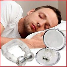 Anti Snore Magnetic Nose Clip Stop Snoring Sleep Aid with Hygiene Case Magnet UK