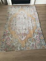 "Turkish Oushak Wool Area Rug, Vintage Hand Knotted, 6'8""x 4'6"", FREE SHIPPING!"