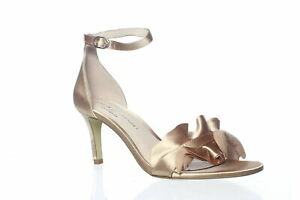 Chinese Laundry Womens Remmy Nude Satin Ankle Strap Heels Size 8 (1420619)