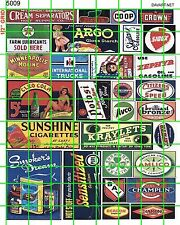 5009 DAVE'S DECALS HO POSTER CIGARETTE SODAS BEER GAS OIL SIGNS ADVERTISING MORE