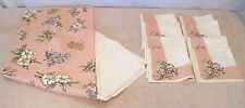 "Vintage 60"" X 80"" Tablecloth 8 Napkins Language Flowers Leacock Kate Greenaway"