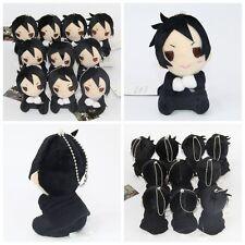 Black Butler Kuroshitsuji Sebastian Michaelis Plush Doll Toy Bag Charm Keychain