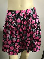 Alannah Hill - I Miss You Sugary Skirt - Pink Black Floral Skirt Size 10