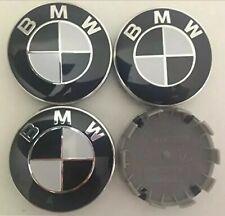 4x Black BMW Wheel Centre Caps Fits Most 1 3 5 7 Series  68mm