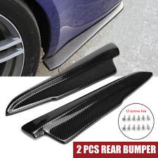 2x Universal Carbon Fiber Look Rear Bumper Lip Winglets Side Skirt Extensions
