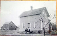 1911 Wadena, Minnesota Realphoto Postcard: Father & Daughter on Farm - MN Minn