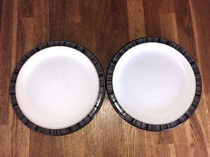 2X Denby Jet Stripe Medium Plates 22.5cm