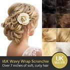 I&K Hair Piece Curls Wavy Wrap Elegant Updo Scrunchie Scrunchy