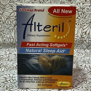 📀 Alteril Fast Acting Natural Sleep Aid -60 Softgels