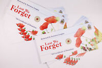 10 X 2012 RED POPPY RSL CARD CERTIFICATE - CARD ONLY - NO COINS - AS NEW