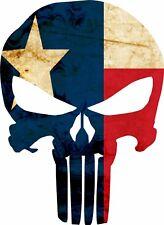 Punisher Texas Flag Bumper Sticker Vinyl Decal