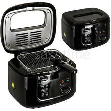 2.5L Electric Deep Fat Chip Fryer Non-Stick Pan & Safe Basket Handle With Window