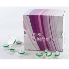 10x Sterile Syringe Filter PES 25 mm 0.22 µm, Individually Sterilized Pack, HPLC