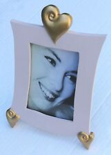 Cadre photo décoration coeurs 10x15 vertical or rose pastel Neuf stock France