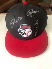 """PETE ROSE Autographed Authentic CINCINNATI REDS BASEBALL CAP """"4256"""" Inscribed"""