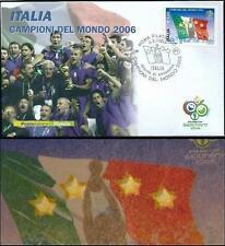 FDC Italia 2006: Campioni del Mondo [Varietà 8 STELLE] Busta 1° Giorno