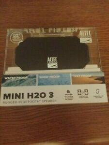 Altec Lansing Mini H20 3 Wireless Waterproof Bluetooth Speaker black NIB