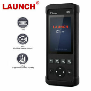 LAUNCH Automotive OBDII Scanner ABS Airbag SRS Diagnostic Tool Car Code Reader
