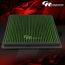 GREEN WASHABLE HIGH FLOW AIR FILTER PANEL FOR 11-15 BUICK REGAL 10-16 LACROSSE
