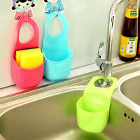 Bathroom Kitchen Sink Sponge Holder Hanging Strainer Organizer Storage Box Rack