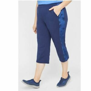 Catherines SEEING STARS RELAXED CAPRI Pants Plus 3X, 26/28