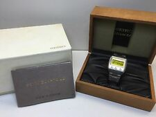 Seiko VFA Grail Watch 0614 LC Quartz LCD Digital 06LC Box Set Uhr MOT 超希少極美品