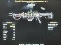fallout 76! Lv 45 Assasins Automatic Plasma Rifle 25% Ffs Xbox One