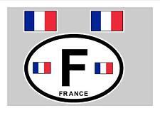 FRANCE FRENCH FLAG WINDOW / BUMPER STICKER FOR CAR BIKE CARAVAN TRAILER