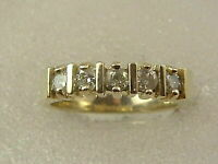 1 Ct 14K Diamond Wedding Band 14 Kt Gold Over Diamond Anniversary Ring