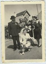 PHOTO ANCIENNE - MARIAGE DÉGUISEMENT GAG DRÔLE -GROUP DISGUISE -Vintage Snapshot