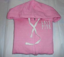 Victoria's Secret Love Pink French Terry Hoodie Pink XS NWT