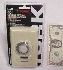 Tork 24Hr Security Wall Timer, 15 Amp Ul Approved 1000 Watt Tungsten 1/3 Hp New