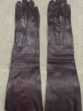 Vintage French Opera Gloves - Size 61/2 - Brown