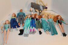Disney Frozen Dolls & Accessories Lot ( Elsa, Anna, Kristoff, Sven & Olaf )