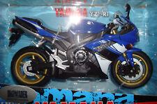 Yamaha YZF R 1 2008 blau weisst 1 10 Welly