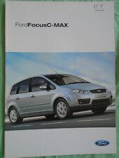 Ford Focus C Max range brochure Aug 2003