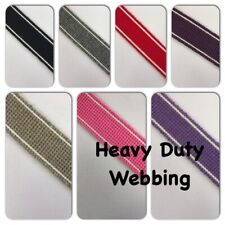 HEAVY DUTY WEBBING / STRAPPING - Handles, bag making, crafts - lots of colours