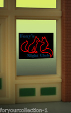 Foxy's Night Club Animated Neon Window Sign #9010 Miller Engineering O/Ho