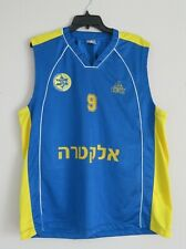 Peak Mens Size L Maccabi Tel Aviv Israel �לקטרה Basketball Jersey #9 Casspi