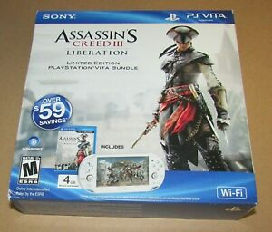 Assassin's Creed III Vita System Box & Paper Inserts Only (No System or Game)
